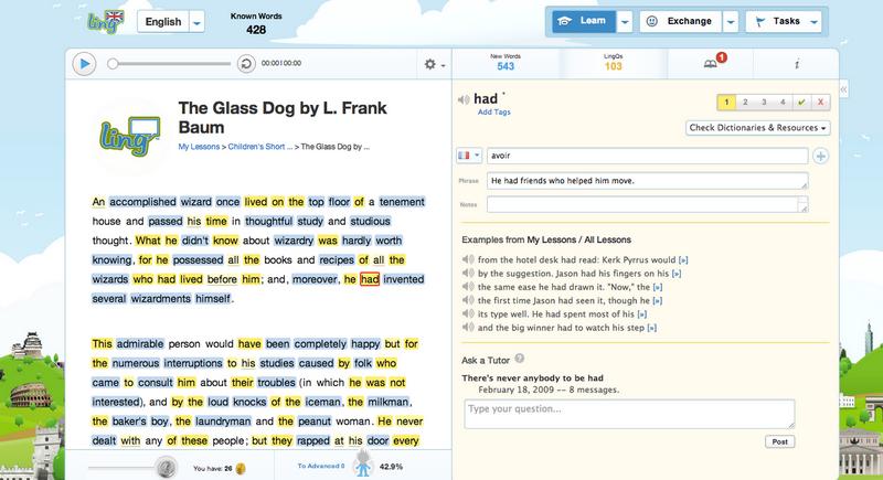 чтение в lingq