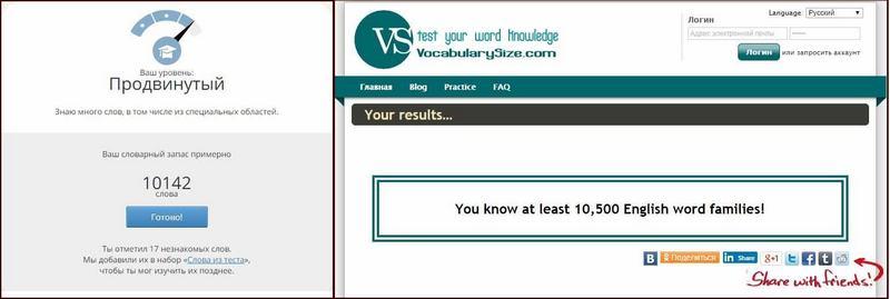 тест словарный запас английского языка