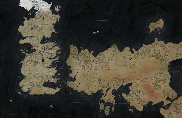 Игра престолов - карта мира