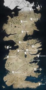 Game of Thrones, карта Вестероса
