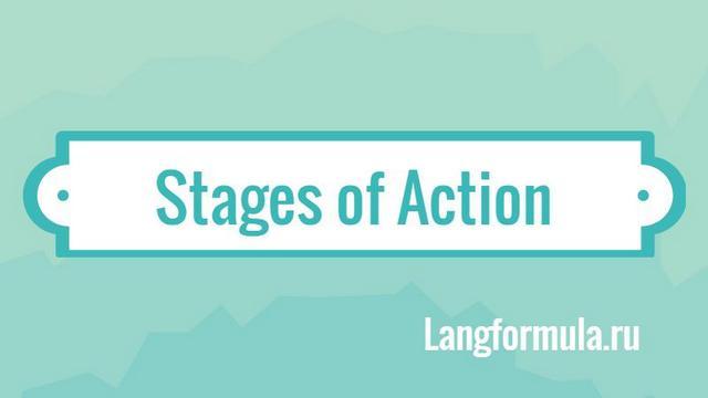 Этапы действия на английском языке