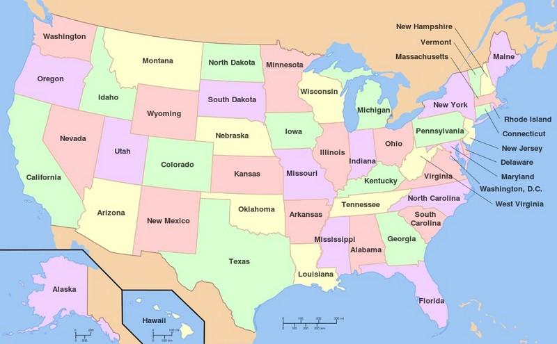Сколько штатов в США?