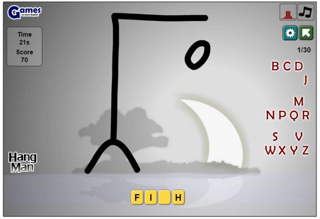 игры на английском языке - hangman