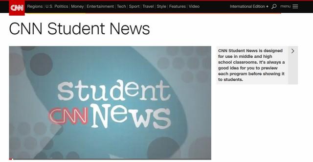 CNN Student News - новости на английском языке для школьников