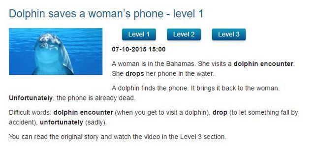 News in Levels - новости на английском языке по уровням сложности