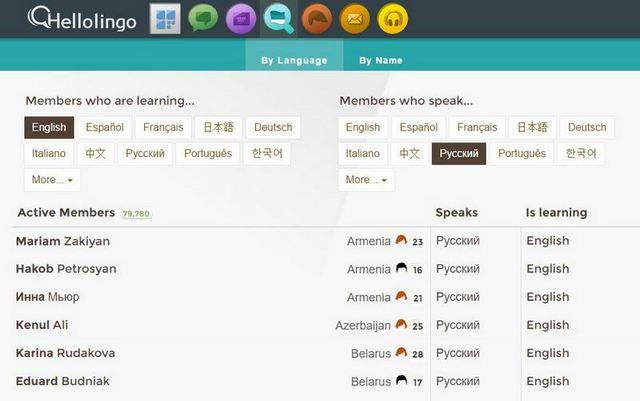 hellolingo поиск языковые партнеры