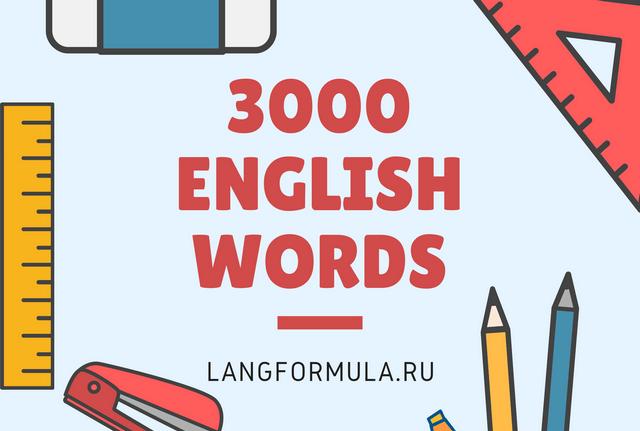 Словарь 3000 английских слов по темам и частям речи