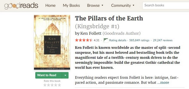 Читаем на английском рецензии на книгу The Pillars of the Earth