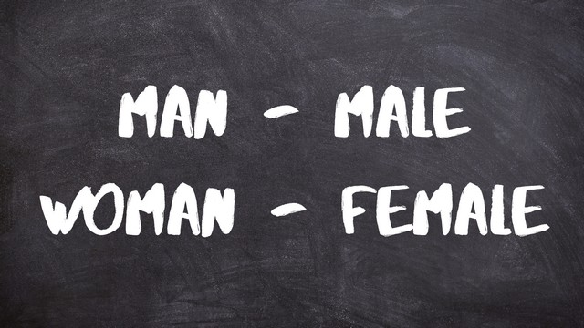 man male woman female