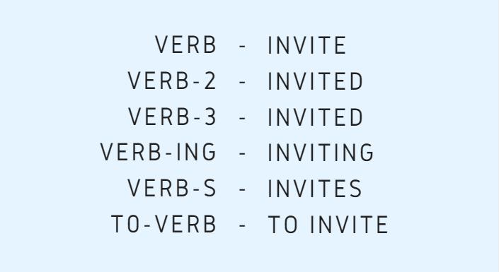 шесть форм глагола в английском языке