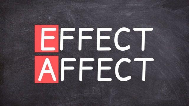 affect и effect